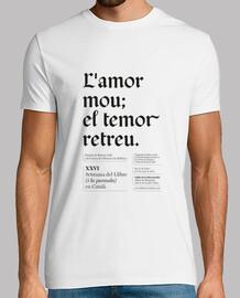 L'amor mou el temor retreu (camiseta chico)