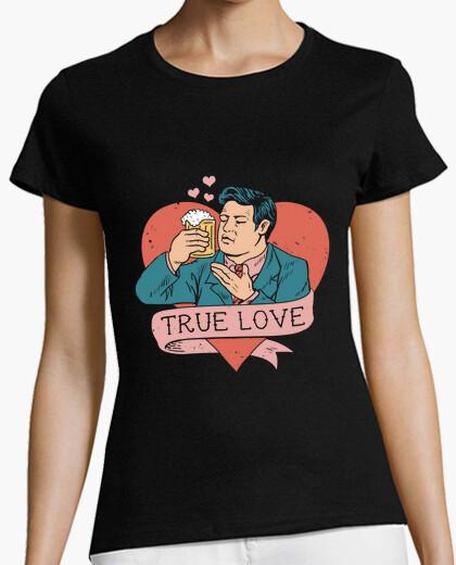 Tee-shirt l'amour à la vue de la bière chemise femmes