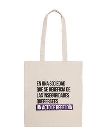 l'amour signifie être rebelle - 100 coton sac à bandoulière