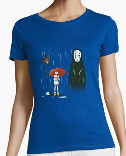 T-shirt lampada spirited ... camicia fermata womans