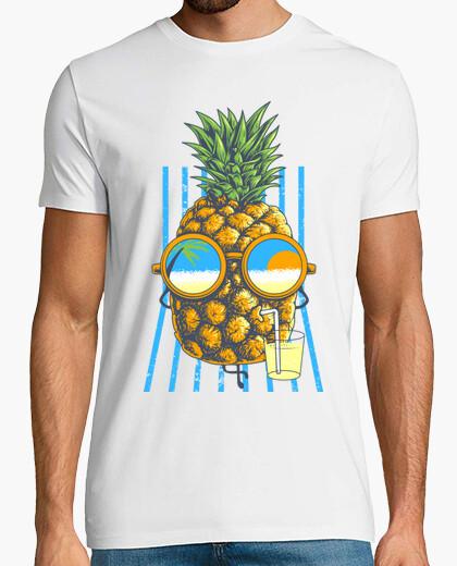 T-shirt l'ananas prende il sole