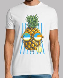 l'ananas prende il sole
