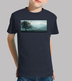 Landscape - Niño, manga corta, azul marino