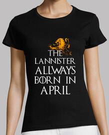 Lannister Siempre nacen en Abril mujer