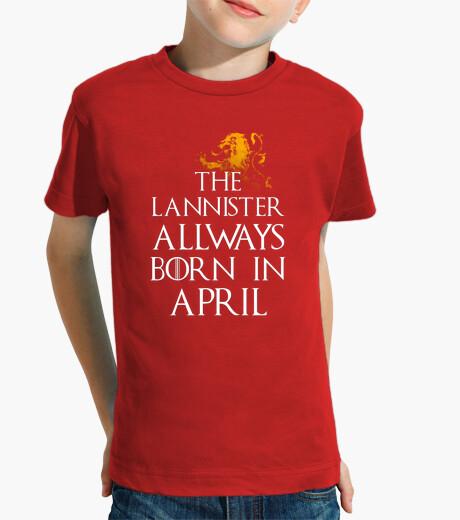 Vêtements enfant lannister toujours né en avril les enfants