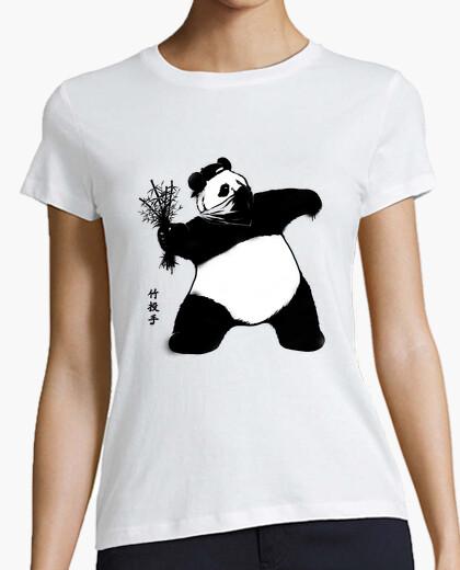 Camiseta lanzador de bambú para mujer blanca