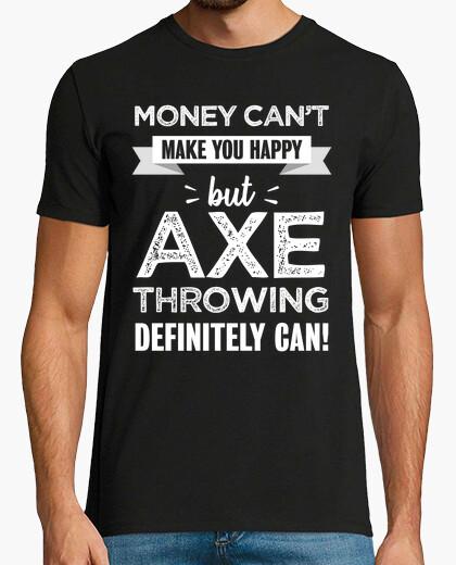 Camiseta Lanzar hacha te hace regalo feliz
