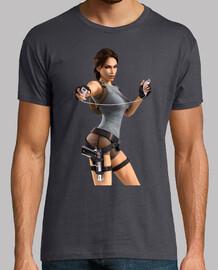 Lara Croft playing Wii
