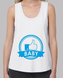larges bretelles femme de bébé