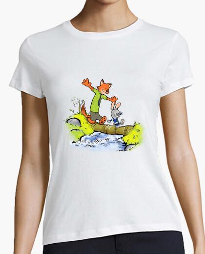 Camiseta las damas de conejo y zorro caben
