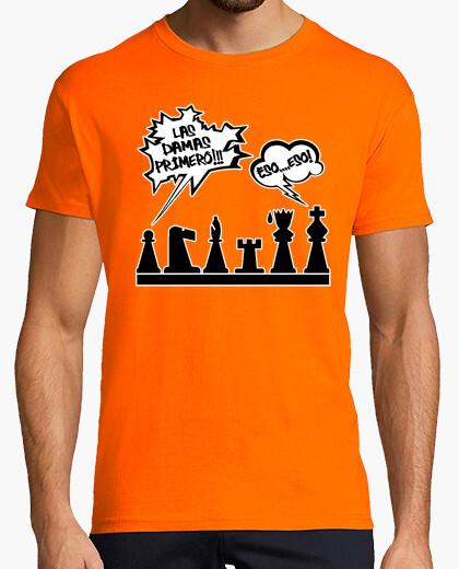 Camiseta Las Damas Primero (Ajedrez)