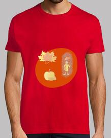 Las hojas del otoño: camiseta hombre