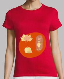 Las hojas del otoño: camiseta mujer