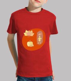 Las hojas del otoño: camiseta niño o niña