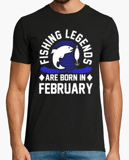 Camiseta las leyendas de la pesca nacen en febrero