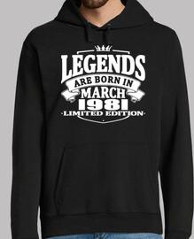 las leyendas nacen en marzo de 1981