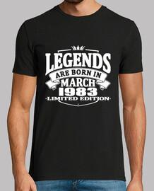 las leyendas nacen en marzo de 1983