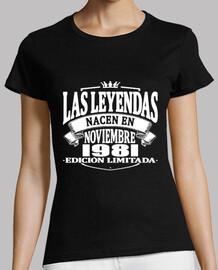 Las leyendas nacen en noviembre 1981