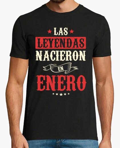 Camiseta Las Leyendas Nacieron En Enero