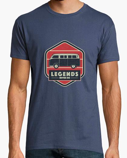 Camiseta las leyendas nunca mueren - combi van volkswagen