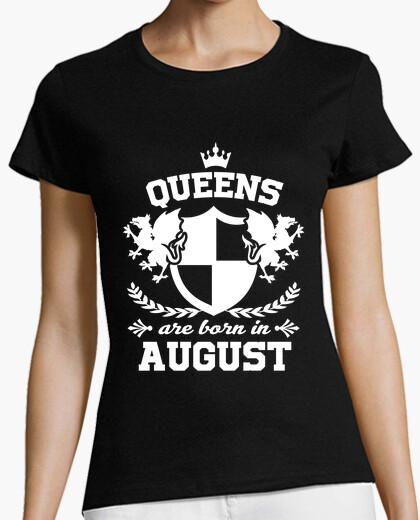Camiseta las reinas nacen en agosto