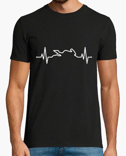 Camiseta Latido corazón pasión por las motos