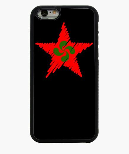 Funda iPhone 6 / 6S Lauburu Estrella Roja Trazos