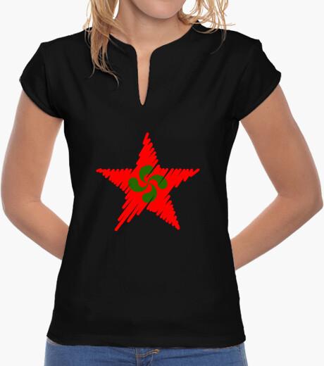 Camiseta Lauburu Estrella Roja Trazos