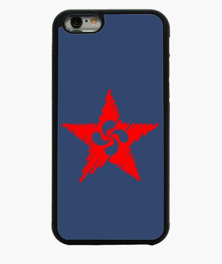Funda iPhone 6 / 6S Lauburu Estrella Roja Trazos 2