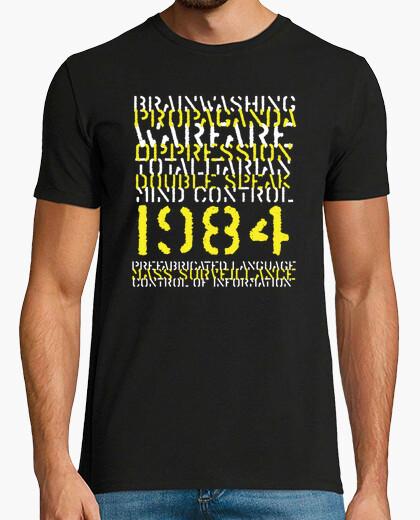 Camiseta lavado de cerebro, propaganda, control mental