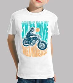 Lächeln Sie mehr Motorrad fahren
