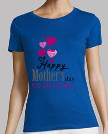 le bleu de mères heureux