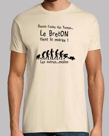 LE breton tient la marée