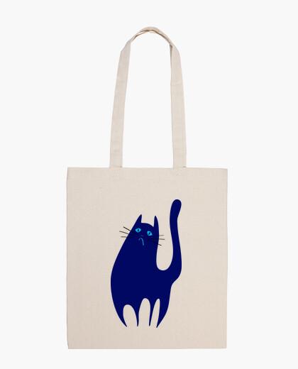 Sac le chat triste et bleu