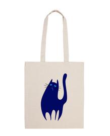 le chat triste et bleu