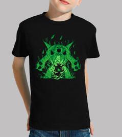 le chevalier d'herbe dedans - chemise d'enfants