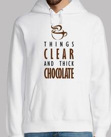 le cose chiare e il cioccolato denso