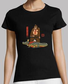 le crocodile et le gorille chemise femme
