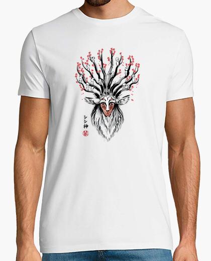 Tee-shirt Le Dieu-Cerf sumi-e