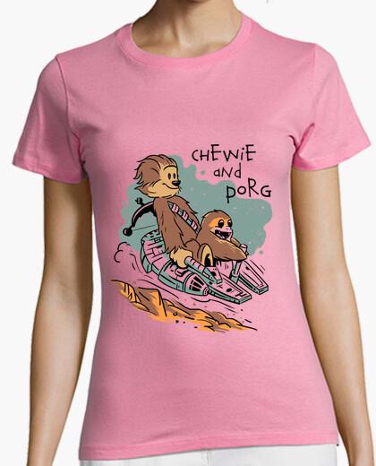 T-shirt le donne chewie e porg shirt