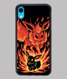 le feu eeveelution à l'intérieur - étui iphone