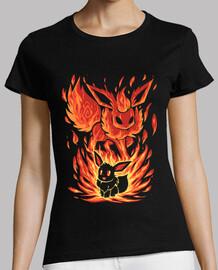 le feu eeveelution à l'intérieur - shirt femme