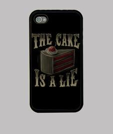 le gâteau est un case mensonge