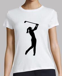 le golf, femme,  femme