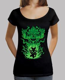 le gorille de l'herbe à l'intérieur - chemise échancrée pour femme
