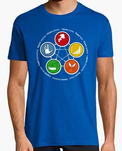 Tee-shirt le grand bang théorie: roche, papier, scisso