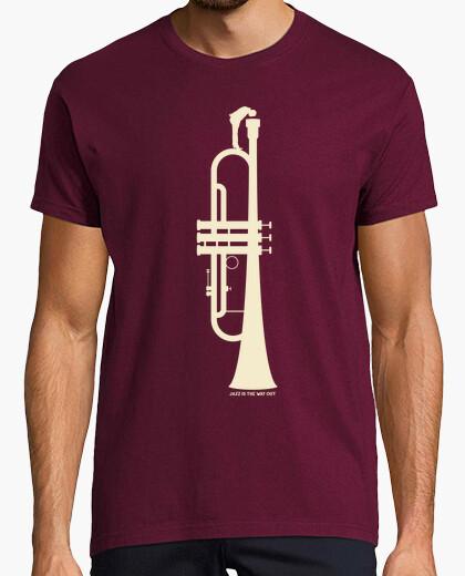 Tee-shirt le jazz est le moyen de sortir (h)