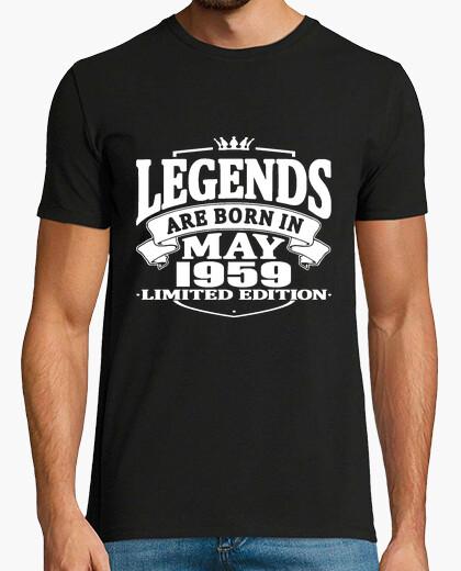 T-shirt le leggende sono nate nel maggio 1959