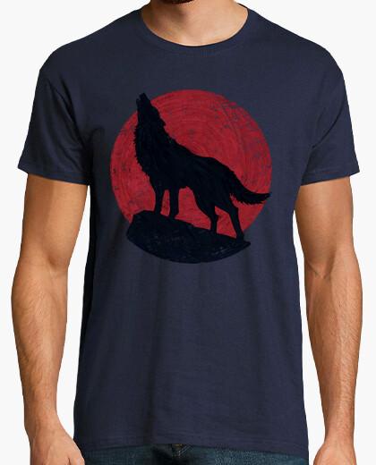 Tee-shirt le loup and la lune rouge