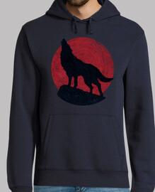 le loup and la lune rouge